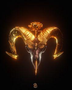 Beautiful Fantasy Art, Dark Fantasy Art, Black And Gold Aesthetic, Demon Aesthetic, Or Noir, Scary Art, Dark Photography, Cartoon Design, Skull Art