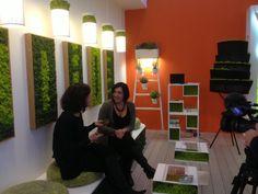 "Maison & Objet, #Paris 2013:  Giusi Ferone interviewed for the French tv show ""Du Côté de Chez Vous""    www.themossdesign.com  www.verdeprofilo.com    #MOSSdesign #MOSS"