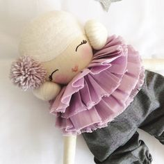 Miss Tippy Toes Cloth Doll by NatalieCreating on Etsy