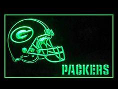 Green Bay Packers Helmet Football Shop Neon Light Sign
