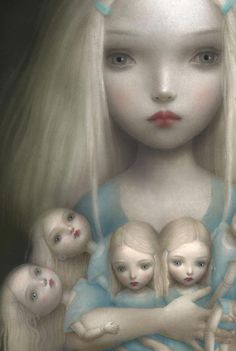 Nicoletta Ceccoli - Olympia, ragazza con bambole, girl with dolls