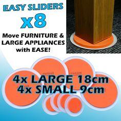 GreatIdeas - Equipo de deslizadores para mover muebles pesados - 8 piezas por pack: Amazon.es: Jardín