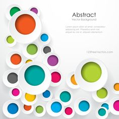 Free Download Colorful Geometric Circle Designs Background Image Vector. Can be used for graphic or web designs. Free Vector Background available in Adobe Illustrator Eps