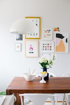 art wall in @Jeanne Bright Bright Chan 's living room