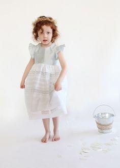 Olivia  Eyelet Flower Girl Dress by ilabeanbridal on Etsy, $140.00
