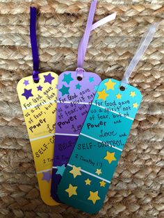 DIY bookmarks out of paint chips
