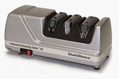 To prevent injury, the Chef's Choice 130 Professional Knife-Sharpening Station includes a switch that allows you to turn these devices off or on when you use it