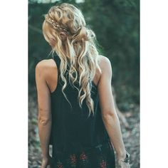 26 Boho Hairstyles with Braids Bun Updos Other Great New Stuff to Try... ❤ liked on Polyvore featuring accessories, hair accessories, hair, pictures, boho hair accessories and bohemian hair accessories