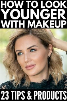 How To Look Younger With Makeup With these make-up tips, products, and tutorials for women over Beauty Secrets, Beauty Hacks, Beste Foundation, Mac Cosmetics, Makeup Brushes, Eye Makeup, Makeup Remover, Hair Makeup, Drugstore Makeup