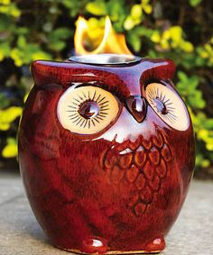 Take a look at this Owl Candleholder by Evergreen on #zulily today! $28 !!