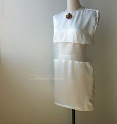 white see through sleeveless tunic dress with a by productsofme, $32.00