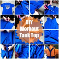 DIY Workout Tank Top - Make sure you try it with at least one shirt you don't mind losing before you do it on one you'd really hate to lose, but this makes a super comfortable workout shirt!