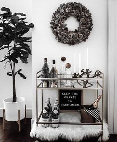 """Receive wonderful ideas on """"gold bar cart styling"""". They are actually offered for you on our site. Home Bar Decor, Bar Cart Decor, Diy Bar Cart, Ikea Bar Cart, Home Decor Accessories, Decorative Accessories, After Christmas Sales, Gold Bar Cart, Black Bar Cart"""