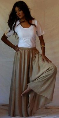 culottes/gaucho/palazzo pant with measurements for reference