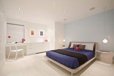 Фото из статьи: 25 стильных спален с лампами на подвесах