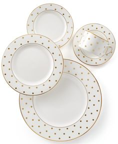 kate spade new york Larabee Road Gold Collection - Fine China - Macy's