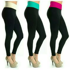 NEW! High Waist Tummy Tuck Support Leggings Bestseller!   Restocked  Cream/Black ● Mint/Back ● Coral/Black   Stylish & Comfortable  High Waist - Tummy Tuck Support  Fold Over Waist  Nice & Stretchy Polyester/Spandex Blend  Boutique  OSFM   NWOT Directly From Vendor   PLEASE COMMENT WITH COLOR CHOICE & I WILL MAKE YOU A PERSONAL LISTING   ▪ No Trades  ▪ Fast Shipping IT Ragazza  Pants Leggings