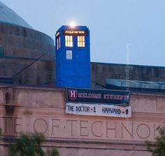 You go, MIT Whovians! But seriously, if I saw the TARDIS just sitting on top of a building, I'd probably pee a little...