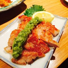 """""""Pork lovers look!! Amazing pork dish from Riki Restaurant. The fresh wasabi paste on top of the fatty pork goes really well w the perfectly cooked pork."""" Photo taken by @yi_reservation on Instagram, pinned via the InstaPin iOS App! http://www.instapinapp.com (06/13/2015)"""