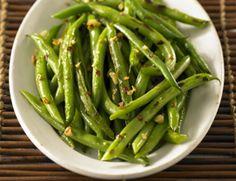 seared green beans with garlic & chiles. #vegan #glutenfree