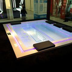 Simple Badepool Zen x mit Ghost System und Beleuchtung Pr sentation Cersaie