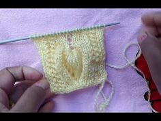 44.- Chaleco bebe a palillo con punto hoja y calado para 1 año (parte 1/2) - YouTube Knitting Stiches, Knitting Videos, Knitting Charts, Lace Knitting, Knitting Patterns Free, Knit Patterns, Crochet Baby, Knit Crochet, Knitting