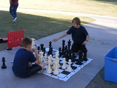 Just one of the many games found during Camping Under the Stars in Marana, AZ