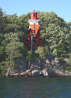 De Watteville Island Range Lighthouse, Ontario Canada at Lighthousefriends.com