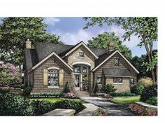 Cottage Style 1 story 3 bedrooms(s) House Plan with 1898 total square feet and 2 Full Bathroom(s) from Dream Home Source House Plans