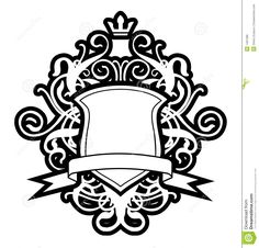 Coat of arms stock vector. Illustration of decor, abstract - 1491386 Shield Drawing, Family Crest Symbols, Secret Tattoo, Dance Background, Knight Shield, Family Shield, Coat Of Arms, Tattoos, Arabesque