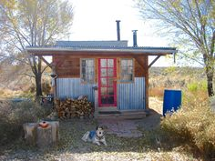A homestead near Taos, New Mexico. My sister Kate used to live in a similar tiny home in Dixon, New Mexico. We made toast on her wood stove. Lovely.