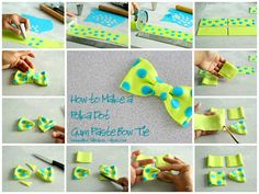 How to Make a Polka Dot Gum Paste Bow Tie Cute: How to make a polka dot gumpaste bow. Great technique for lots of gumpaste decorations. Fondant Tips, Fondant Tutorial, Fondant Cakes, Cake Decorating Techniques, Cake Decorating Tutorials, Decorating Supplies, Ideas Decoracion Cumpleaños, Make A Bow Tie, Cupcakes Decorados