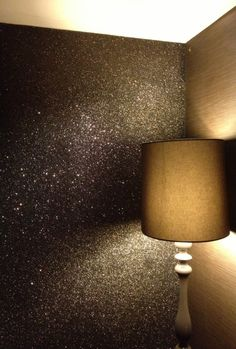 Glitter wallpaper - need this somewhere in my life!