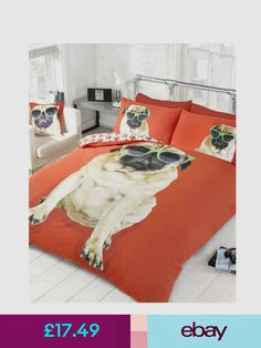 Pug Duvet Cover Set Picture Of A Pug And Little Chick Drawn Us