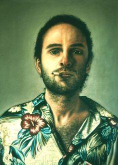 Self portrait acrylic on canvas: Laurent La Gamba