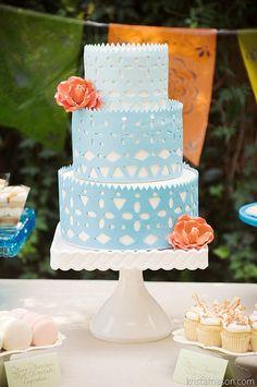 Papel Picado Wedding Cake (785) | by Asweetdesign