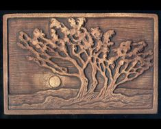 Grove of Trees Craftsman style Art Tile by RavenstoneTiles on Etsy, $39.00