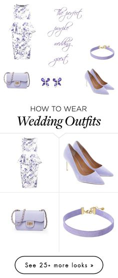 """""""the perfect purple wedding guest"""" by gigibenie on Polyvore featuring Boohoo, Tory Burch and Vanessa Mooney"""