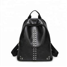 75f0afd9d8 Fashion Backpacks Women PU Leather Shoulder Bag Girls Rivet Backpack School  Bag for Teenage Daily Travel Back Bag Female Bags