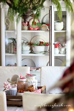 Craftberry Bush: A Farmhouse Christmas - Christmas hutch details and 8 tips to help you style the perfect hutch or vignette