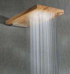 Best Rain Shower Head Designs from Wood - Home Design and Decor Ideas Douche Design, Rain Shower, Shower Floor, Deco Design, Design Design, Bathroom Inspiration, Bathroom Ideas, Shower Bathroom, Master Shower