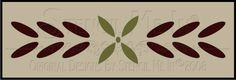 Colonial Petals & Leaves Design Measures: Overall Stencil Measures: Just ordered this, it's beautiful, not sure what room to use it yet. Stencil Font, Stencil Patterns, Stencil Designs, Stencils, Crafts To Do, Diy Crafts, Stenciled Floor, Colonial Architecture, Painted Floors