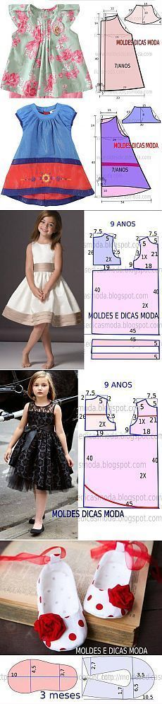 Discover thousands of images about Pattern panels printed directly on the fabric: Riley Blake Doll Clothes Tutorial Fashion Kids, Diy Fashion, Fashion Sewing, Girl Dress Patterns, Clothing Patterns, Sewing For Kids, Baby Sewing, Sewing Clothes, Diy Clothes