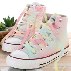 Cute colourful hand painted canvas shoes