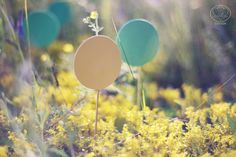 """By """"Cotton"""" Photography & Decor Studio http://www.cottonwedding.com/  cyan, blue, yellow pastel candy bar decorated with paper flowers. hand made sweets paper decor sunset love story on grass field"""