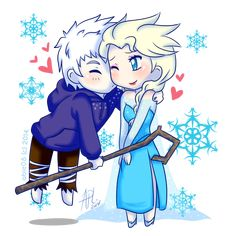 JELSA: A Kiss for the Queen by Abie05 on deviantART - So cute!