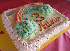 """Rainbow"" Ice-Cream Cake  Piping - Colored Ice-Cream"