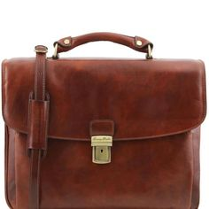 Alessandria - Tuscany Leather - Leather multi compartment TL SMART laptop briefcase - Bags For Business - 2