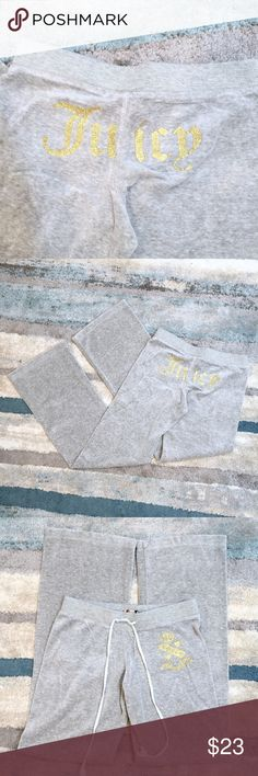 Juicy Couture Grey Sweatpants Size M Up for sale in very good preowned condition Juicy Couture Grey Sweatpants. Size M. Check out my closet, bundle and give me your offer! Juicy Couture Pants Track Pants & Joggers