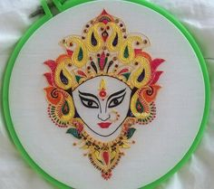 Hand Embroidery Videos, Embroidery Stitches Tutorial, Embroidery Works, Hand Embroidery Stitches, Hand Embroidery Patterns, Machine Embroidery, Ribbon Embroidery, Fabric Painting, Fabric Art